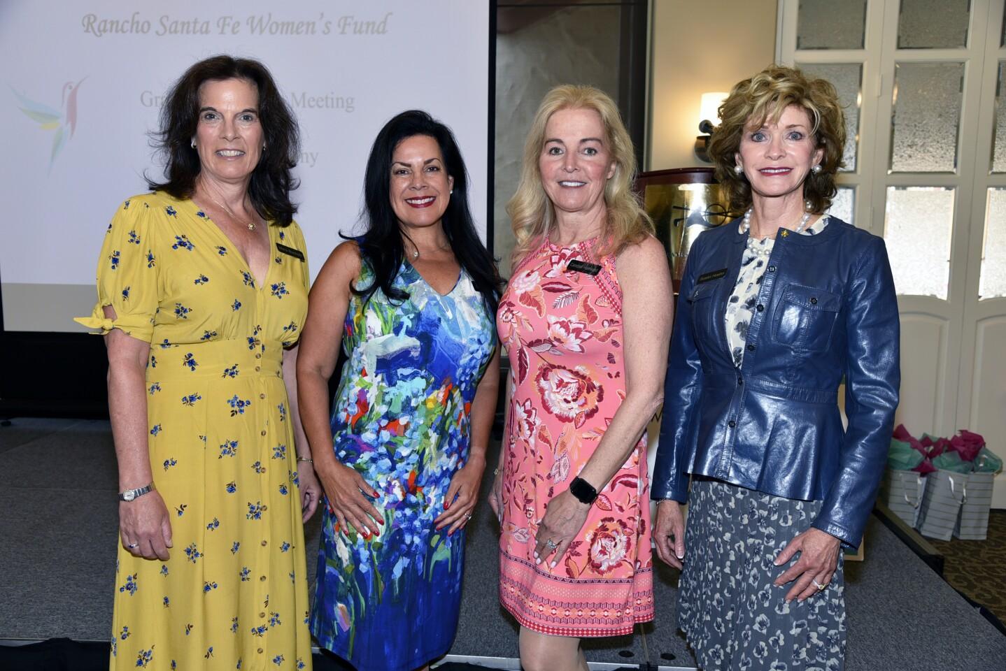 Grants Co-Chairs Mara Buchholz and Nikki Ream, Advisory Chair Candise Holmlund, Incoming Advisory Chair Susan Hoehn