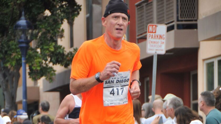 Johan Otter of Escondido will be one of 30,000 runners competing in the 121st Boston Marathon.