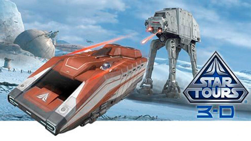 Star Tours: The Adventure Continues ride at Disneyland.