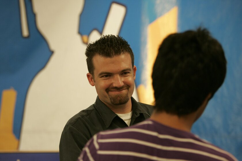 Chris Yanov, executive director of Reality Changers, in action at one of the youth program's regular sessions.