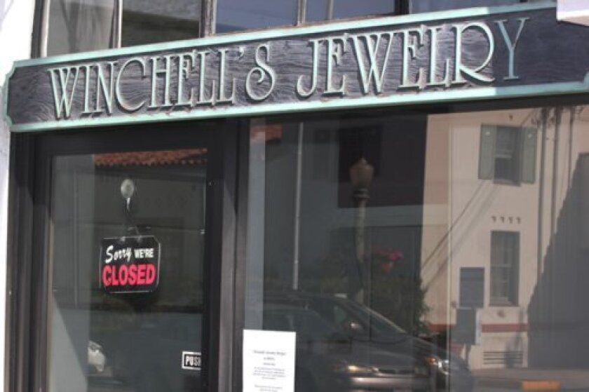 Longtime la Jolla jeweler Karl Winchell vacated his space at 1123 Wall St. this month, shortly after San Diego Police launched an investigation of his business practices, which include multiple court cases filed claiming Winchell scammed customers out of their valuables and/or money. Pat Sherman