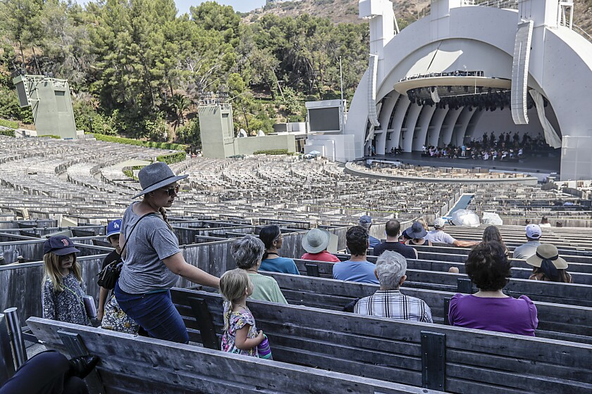 Free morning rehearsals at the Hollywood Bowl.