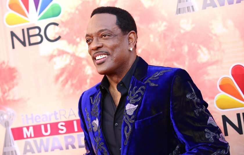 Charlie Wilson arrives at the iHeartRadio Music Awards at The Shrine Auditorium on Sunday, March 29, 2015, in Los Angeles. (Photo by John Salangsang/Invision/AP)