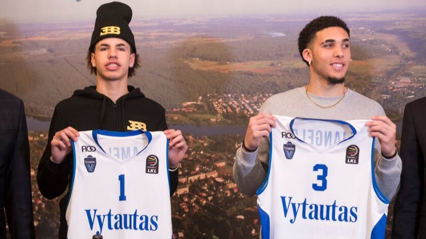 Liangelo And Lamelo Ball Lithuanian Jerseys Sell Out In Less Than A Day Los Angeles Times