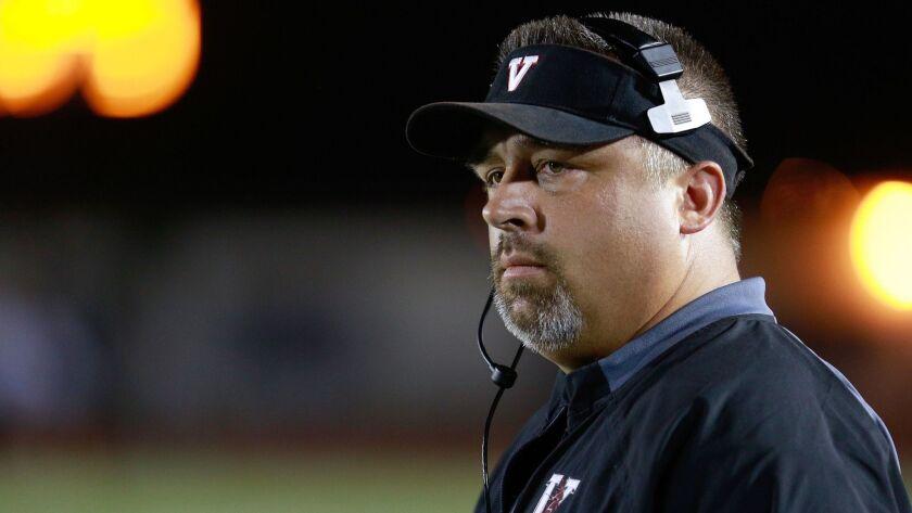 Vista High School football coach Dave Bottom.