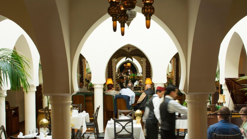 """Rick's Cafe in Casablanca, Morocco, is a real restaurant that is a """"re-creation"""" of the fictional restaurant from the 1942 movie """"Casablanca."""""""