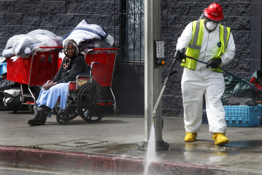 Skid row cleanup