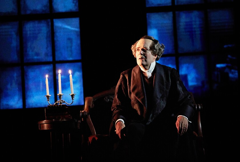 "Jefferson Mays, whose solo take on ""A Christmas Carol"" debuted at the Geffen Playhouse in 2018, is part of the theater's virtual lineup."