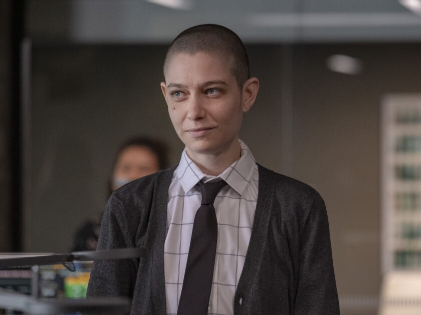 """Asia Kate Dillon as Taylor in """"Billions"""""""
