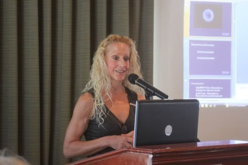 Dr. Anne Wallace discusses the latest findings on breast cancer at a Nov. 6 luncheon honoring health pioneer Dr. Doris Howell. Ashley Mackin