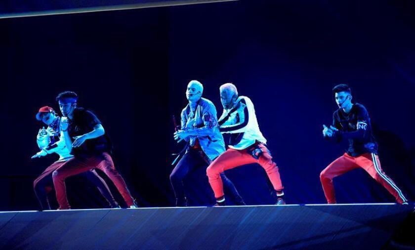 La agrupación juvenil CNCO se presenta durante la cuarta edición de los Latin American Music Awards (Latin AMAs), el jueves 25 de octubre de 2018, en el Teatro Dolby, situado en el corazón de Hollywood, Los Ángeles (EE.UU.). EFE/Archivo