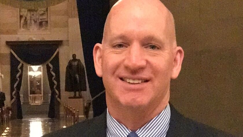 Tim Mitrovich usually works in the Sergeant at Arms office of the U.S. Senate but took a couple months off to help coordinate Friday's Presidential Inauguration.