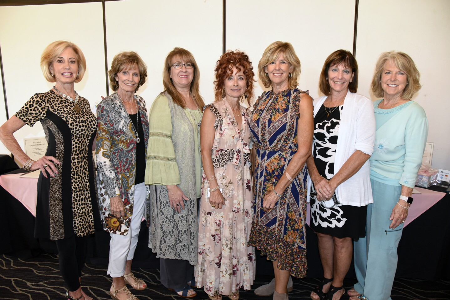 Board members Jan Reital (Program Chair), Pat Van Gorder, Barbara Litwiller, Amber Persia-Hodges, Board Chair Jill Mulligan, Stephanie Messina, Susan Popov
