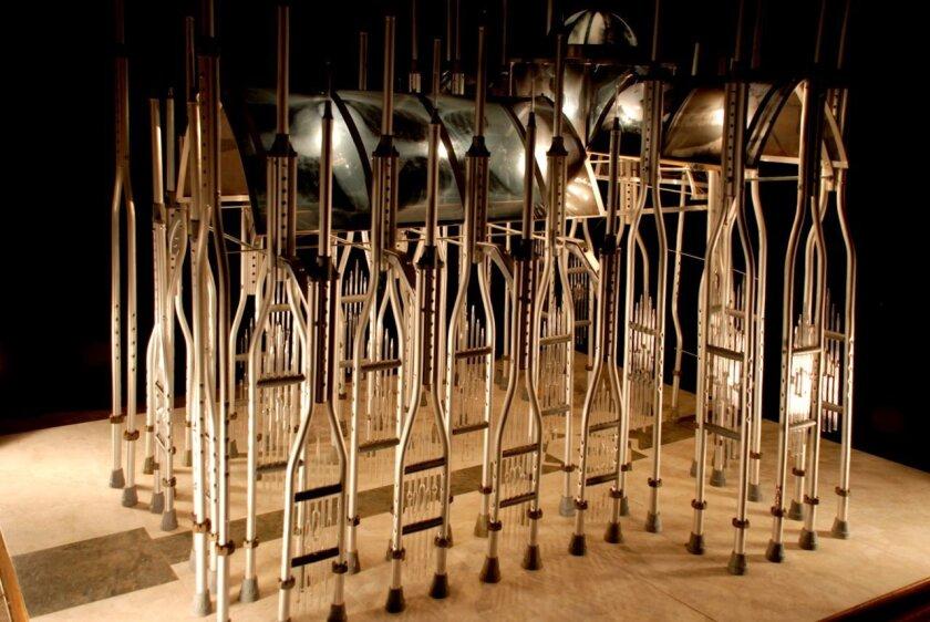 Cheryl Nickel's elegant crutch-based 'Gothic Cathedral'