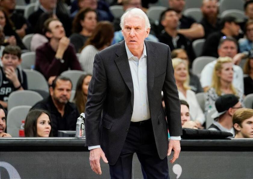 El entrenador en jefe de los San Antonio Spurs Gregg Popovich. EFE/Archivo