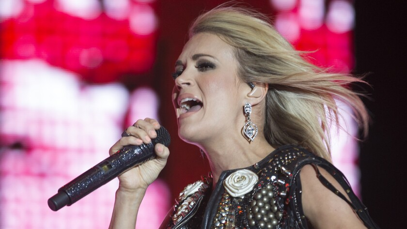 Carrie Underwood headlines Day 2 on the Mane Stage at Stagecoach Country Music Festival in Indio.