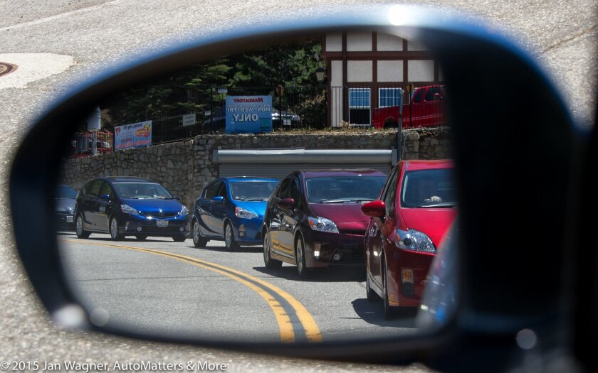 Toyota Prius owners' gathering at Lake Arrowhead