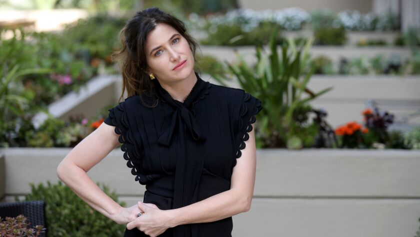 "Actress Kathryn Hahn, at the Four Seasons Hotel in Los Angeles on Sept. 24, 2018, stars in the Netflix film ""Private Life,"" about one couple's struggle with infertility."