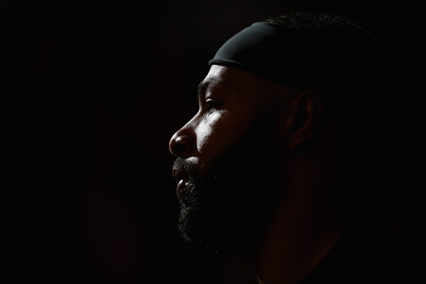 Clippers forward Marcus Morris looks on during the second half against the Phoenix Suns on Feb. 27.
