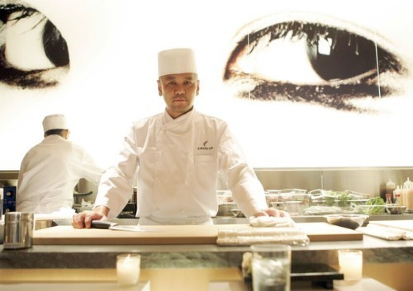 TASK MASTER: Master sushi chef Katsuya Uechi of the Katsuya restaurant empire is turning his attention to teaching sushi-making skills.