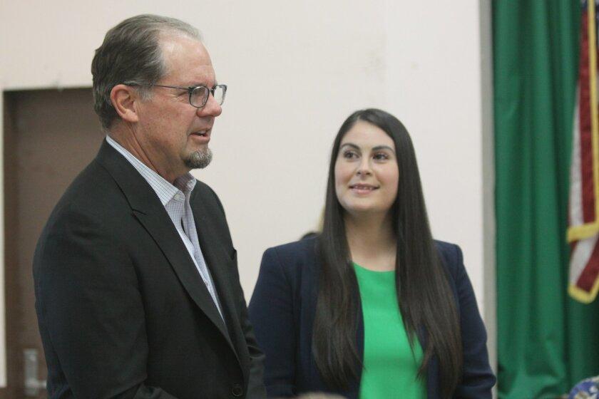 La Jolla Community Center board chair Glen Rasmussen and Community Center executive director Nancy Walters.