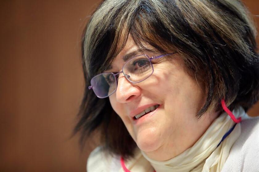 Fotografía fechada el 24 de septiembre de 2018, que muestra a la investigadora Ángeles Magdaleno mientras habla en entrevista con Efe, en Ciudad de México (México). EFE