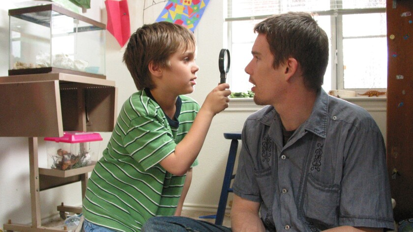 """Boyhood,"" director Richard Linklater's experimental coming-of-age film that was shot over 12 years on a shoestring budget, followed with three nominations for its ensemble cast and for Ethan Hawke and Patricia Arquette."