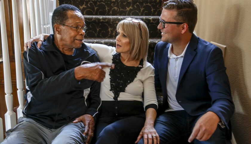 Rod Carew with his wife, Rhonda, and son Devon.