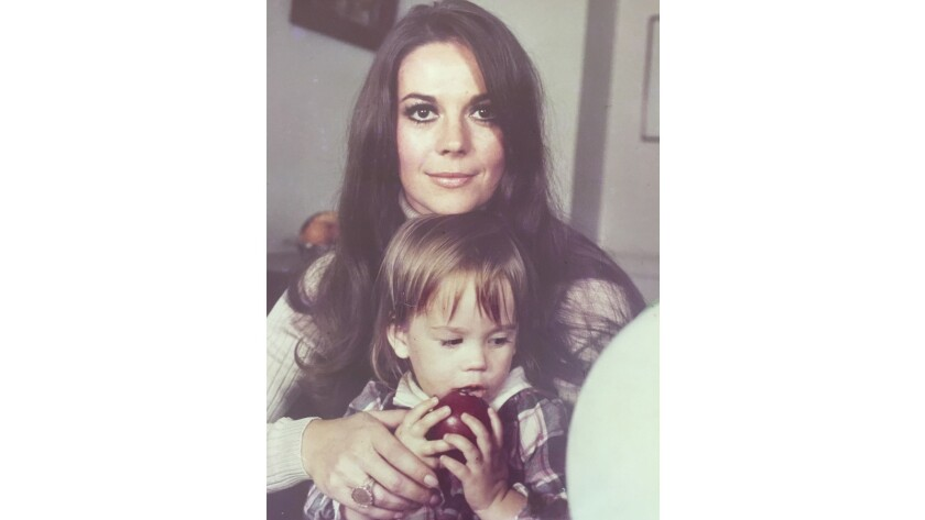 Natasha Gregson Wagner is shown with her mother Natalie Wood in the early 1970s.