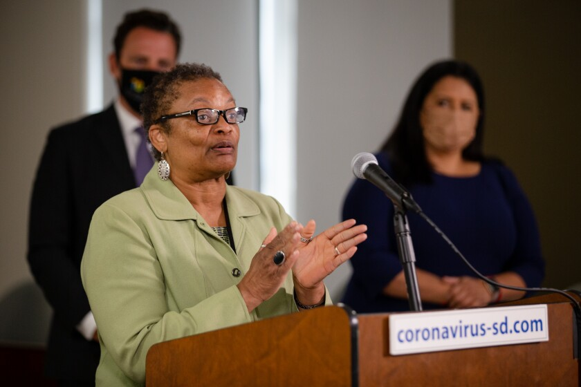 San Diego County Public Health Officer Dr. Wilma Wooten.