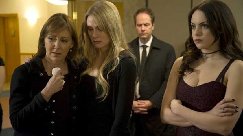 "Cynthia Stevenson, left, Tori Anderson and Elizabeth Gillies in ""Killing Daddy."""