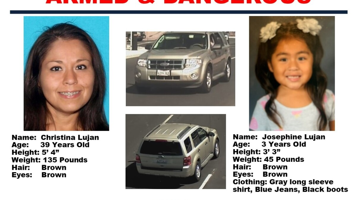 Chp Cancels Amber Alert After 3 Year Old Girl Found Mother Detained The San Diego Union Tribune