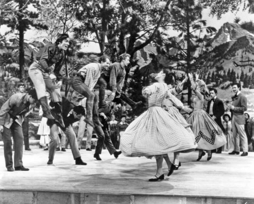 """Matt Mattox, seen in the middle of the trio of jumping men in """"Seven Brides for Seven Brothers,"""" largely abandoned his successful movie career in the mid-1950s to concentrate on teaching and choreography."""