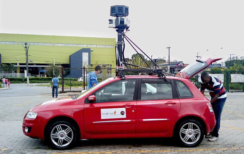 A Google Street View car.