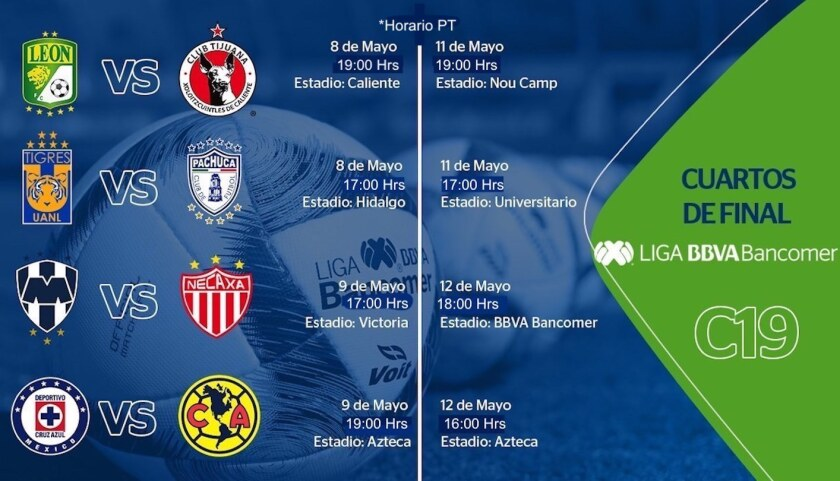 estilo de moda de 2019 gran variedad de estilos última selección de 2019 Así se jugará la Liguilla del futbol mexicano - Hoy Los Ángeles