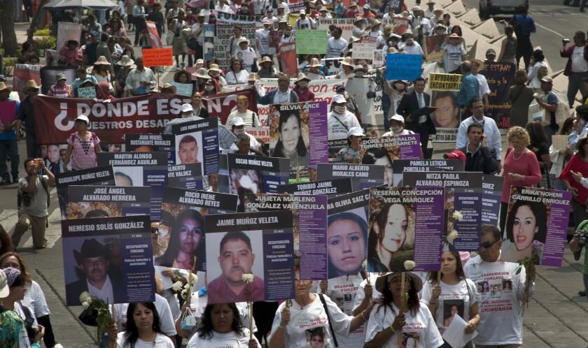 A diario desaparecen cientos de la Ciudad de Mexico City. Victimas de la violencia y el narcotráfico.