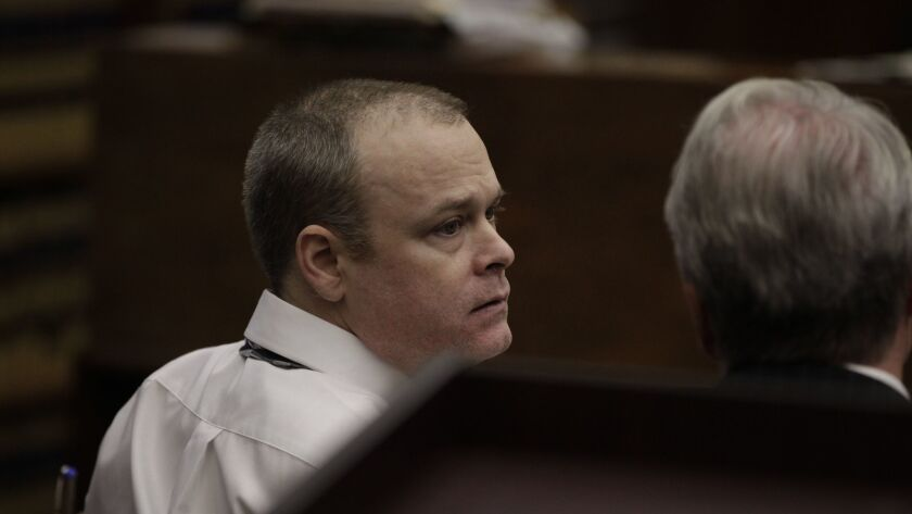 Richard Tuite is shown at his 2013 retrial for the murder of 12-year-old Stephanie Crowe. Tuite was