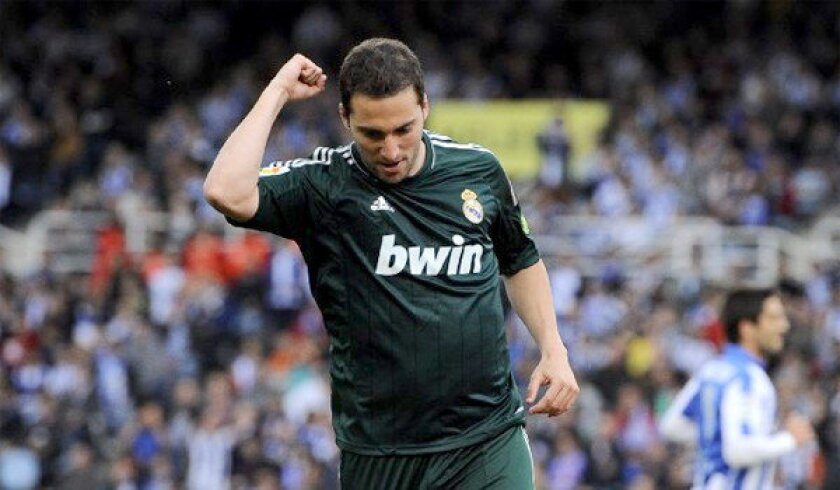 Gonzalo Higuain and Real Madrid will face Juventus during the first-ever soccer event held at Dodger Stadium on Aug. 3.