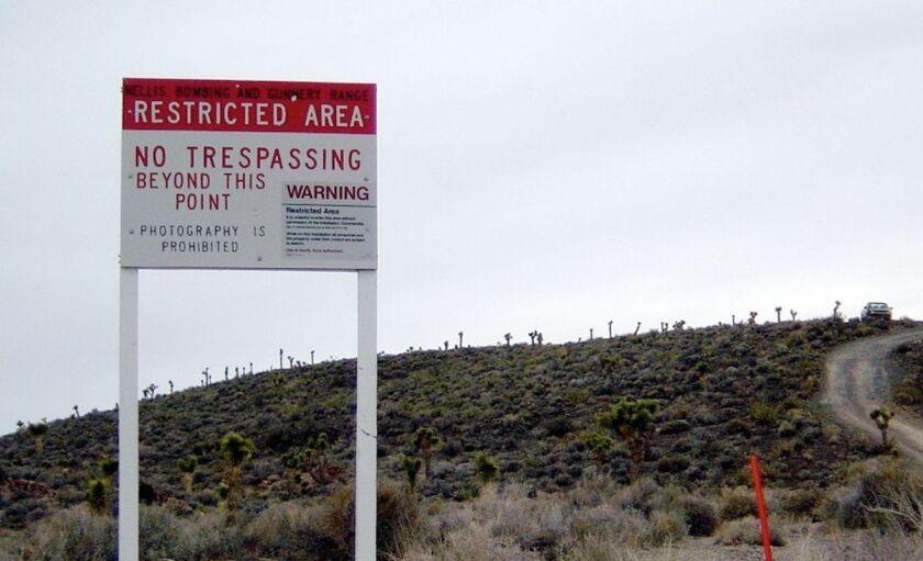 La CIA ubicó al 'Área 51' en un mapa cerca del salar seco del lago Groom.