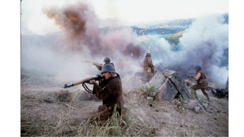 """A still from """"The Thin Red Line,"""" based on James Jones' novel."""