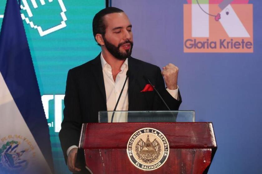 Nayib Bukele, presidente de El Salvador. EFE/Rodrigo Sura/Archivo