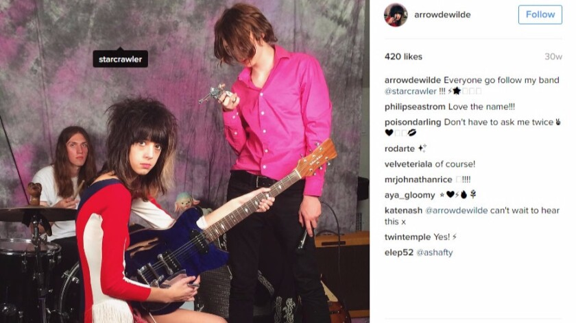 Starcrawler is seen in an image from their Instagram feed.