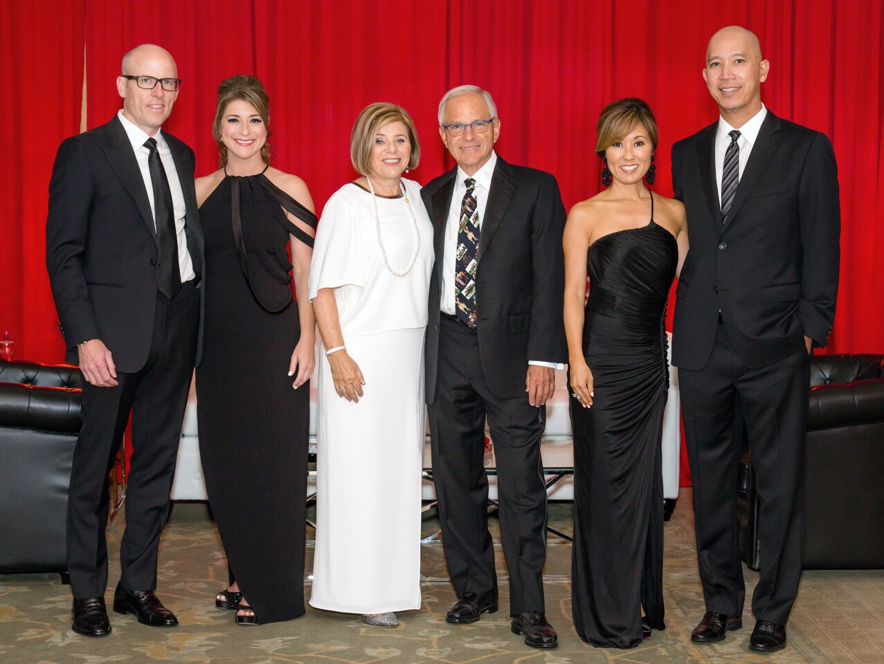 """""""A Celebration of Children: Black and White Ball"""" welcomed donors and chairs David Fisher, Michelle Fisher, Susan Leibel, Dennis Leibel and Dana Chou and Tom Chou to raise funds for Court Appointed Special Advocates (CASA) of Orange County."""