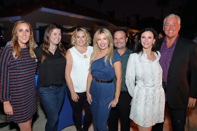 Laura Dawson, Vickie Hamilton, Deb Erven, Valerie Robbins (PTO Pres), Brian Robbins, Cristina and Stephen Basser