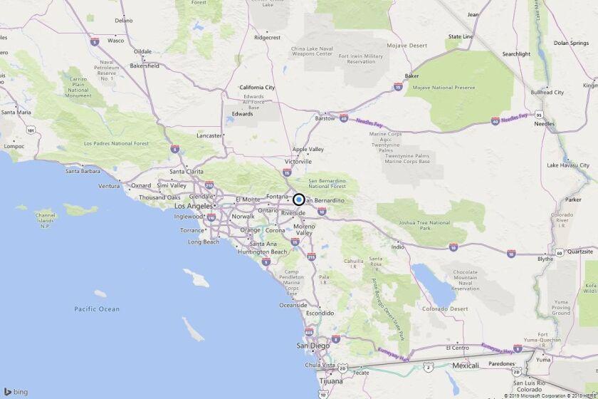 Earthquake: 3.5 quake strikes near San Bernardino, Calif.