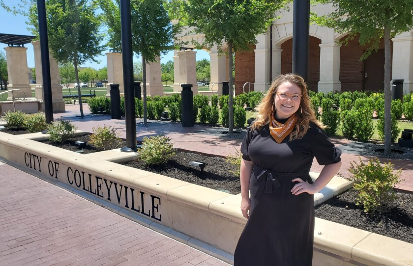 Colleyville, Texas, Chamber of Commerce President Chelsea Rose has been fielding questions from business owners about reopening this week.