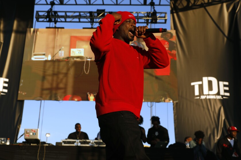 LOS ANGELES, CALIF. -- WEDNESDAY, DECEMBER 19, 2018: Jay Rock performs at the fifth annual Nickerson
