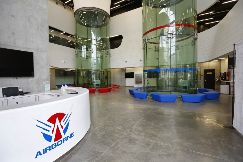 The city's purchase of a former indoor skydiving facility is being reviewed by federal officials.