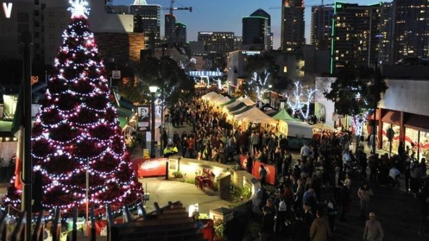 Gather at the Piazza della Famiglia in Little Italy to light the tree at 6:30 p.m. Dec. 1.