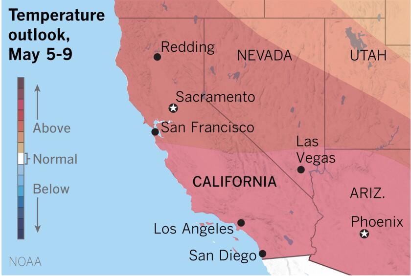 Triple-digit temperatures could return to the warmest valleys next week.